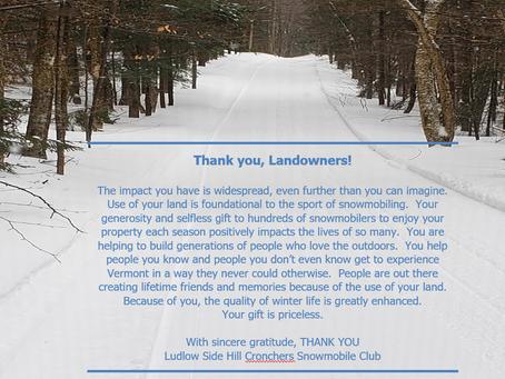 Thank you, Landowners