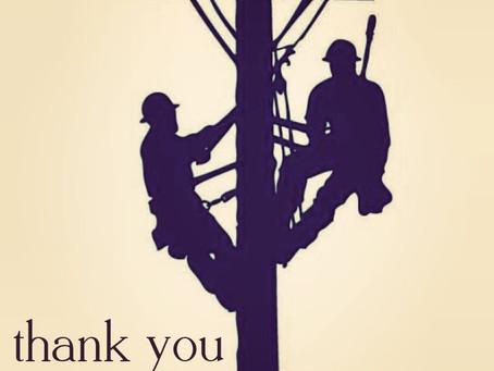 Thank you, Linemen!