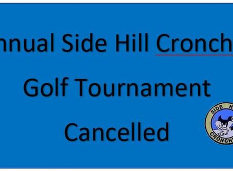 5/5/20- Golf Tournament Cancelled