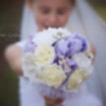 A Beauty with her communion bouquet. ⠀.j
