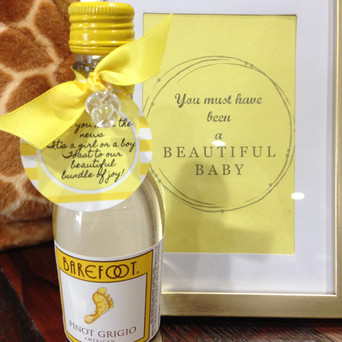 Wine Favor with Custom Tag