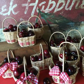 Summer Cherry Favor Baskets