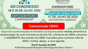 CBNA anuncia adiamento de eventos do mês de maio e prazos