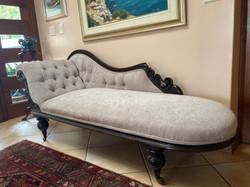 Victorian mahogany chaise