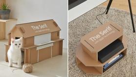 Caixas de TV da Samsung podem se transformar em casinha de gato ou porta-revistas