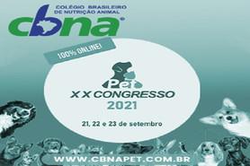 XX Congresso CBNA Pet 2021 acontece em setembro
