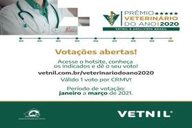Estão abertas as votações para o Prêmio Veterinário do Ano Vetnil Anclivepa Brasil 2020