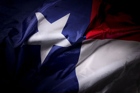 The Texas state flag waving in shadow.jp