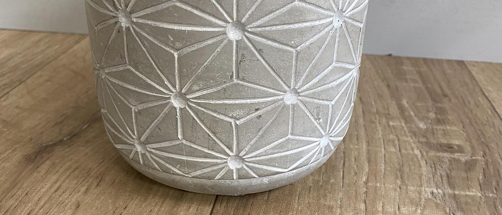 Grey Geometric Pot 13.5cm