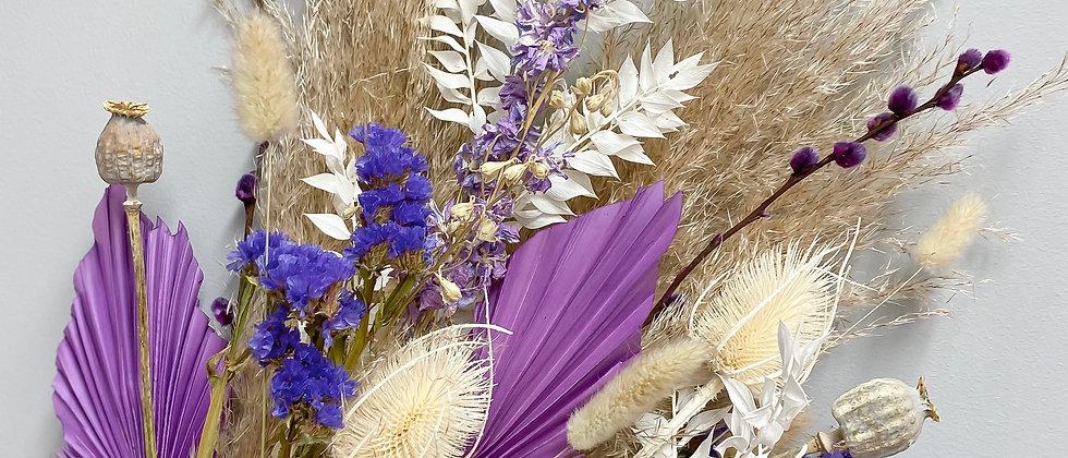 Dried Flower Bouquet: Purple & Natural
