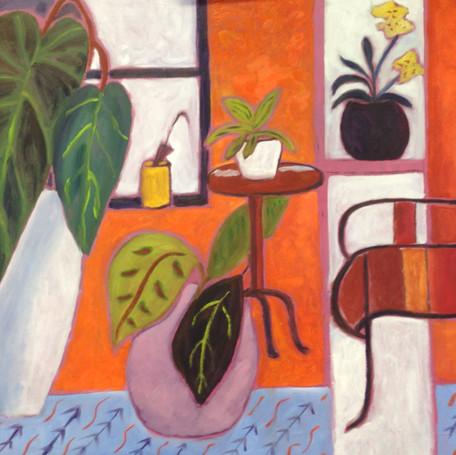 Interieur met planten