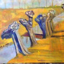 Wilgen in de polder