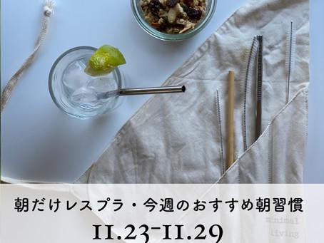 11/23〜11/29・朝だけレスプラ!今週のおすすめの朝習慣
