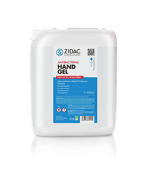 ANTIBACTERIAL HAND GEL JERRY CAN 5L