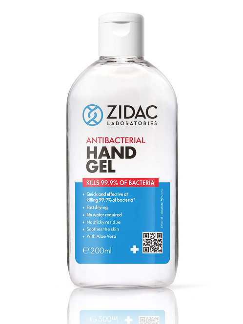 Antibacterial hand sanitiser gel 200ml