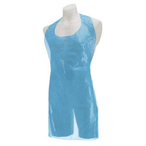 Disposable Long Polythene Aprons-Roll of 200-blue
