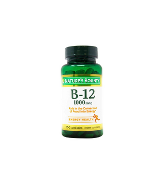 Nature's Bounty Vitamin B-12 - 1,000 mcg - 200 Tablets