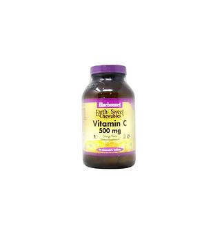 Bluebonnet Nutrition Earth Sweet Vitamin C - 500 mg - 90 Chewable Tablets