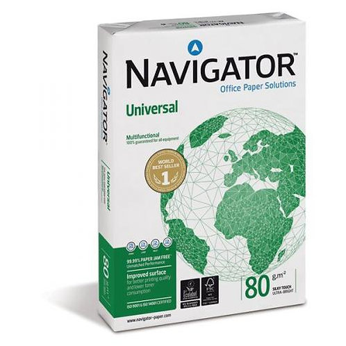 Navigator Universal A4 Paper 80 gsm Box of 5 Reams