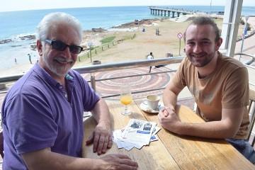 Ross & Matt by the ocean