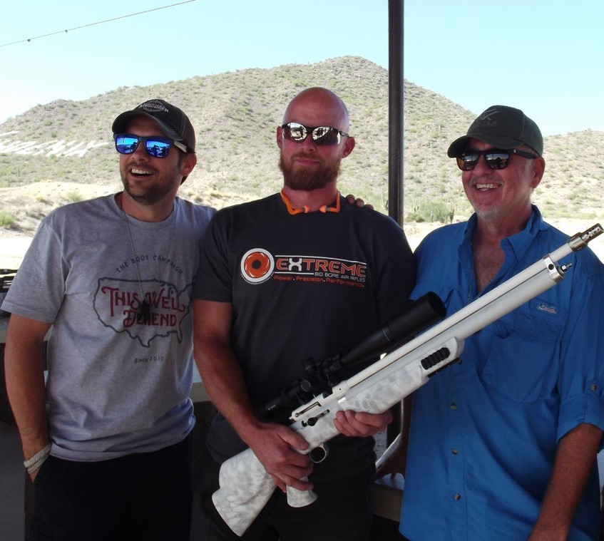 Chris Alls and his helium rifle