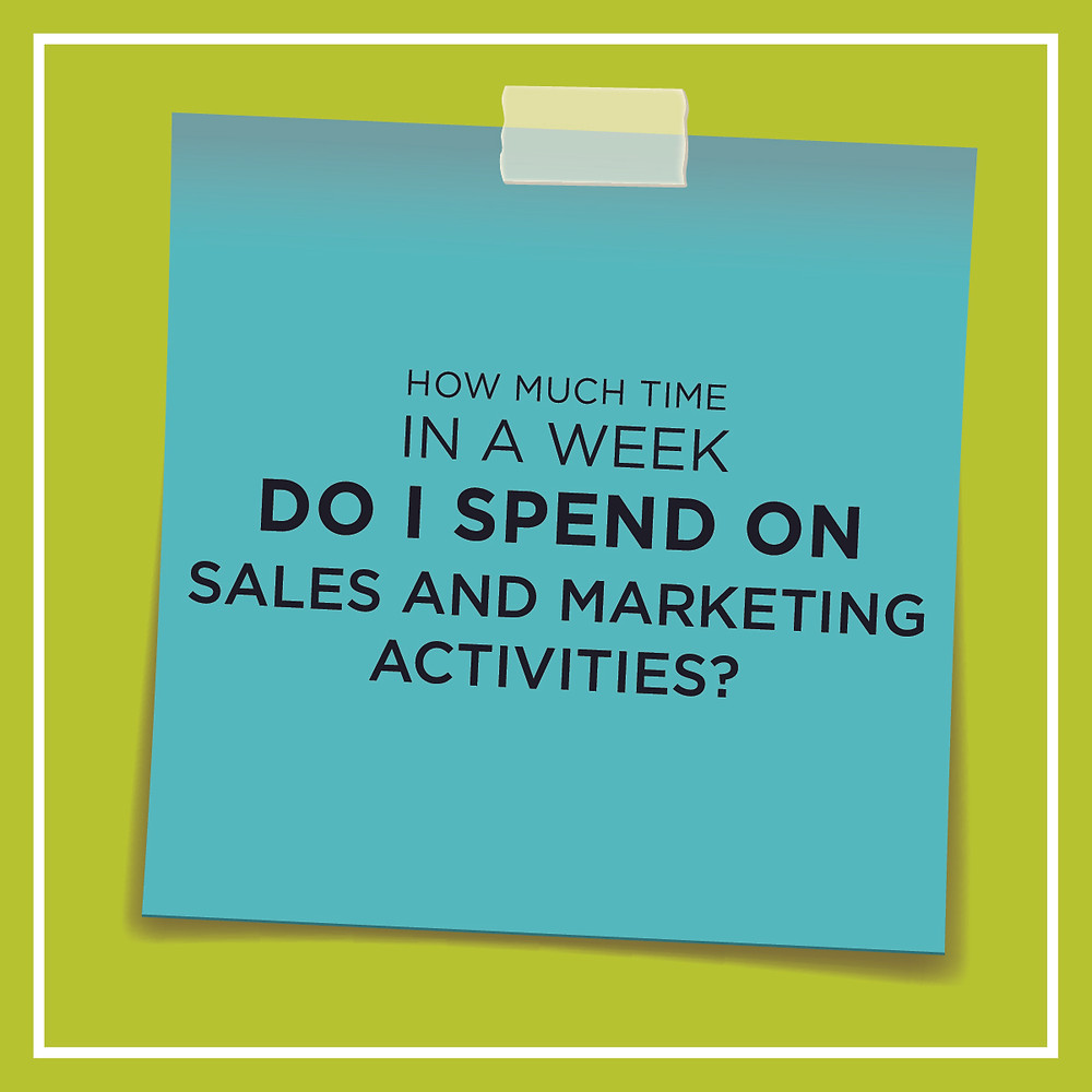 "Emily Page asks you ""How much time in a week do I spend on sales and marketing activities?"""
