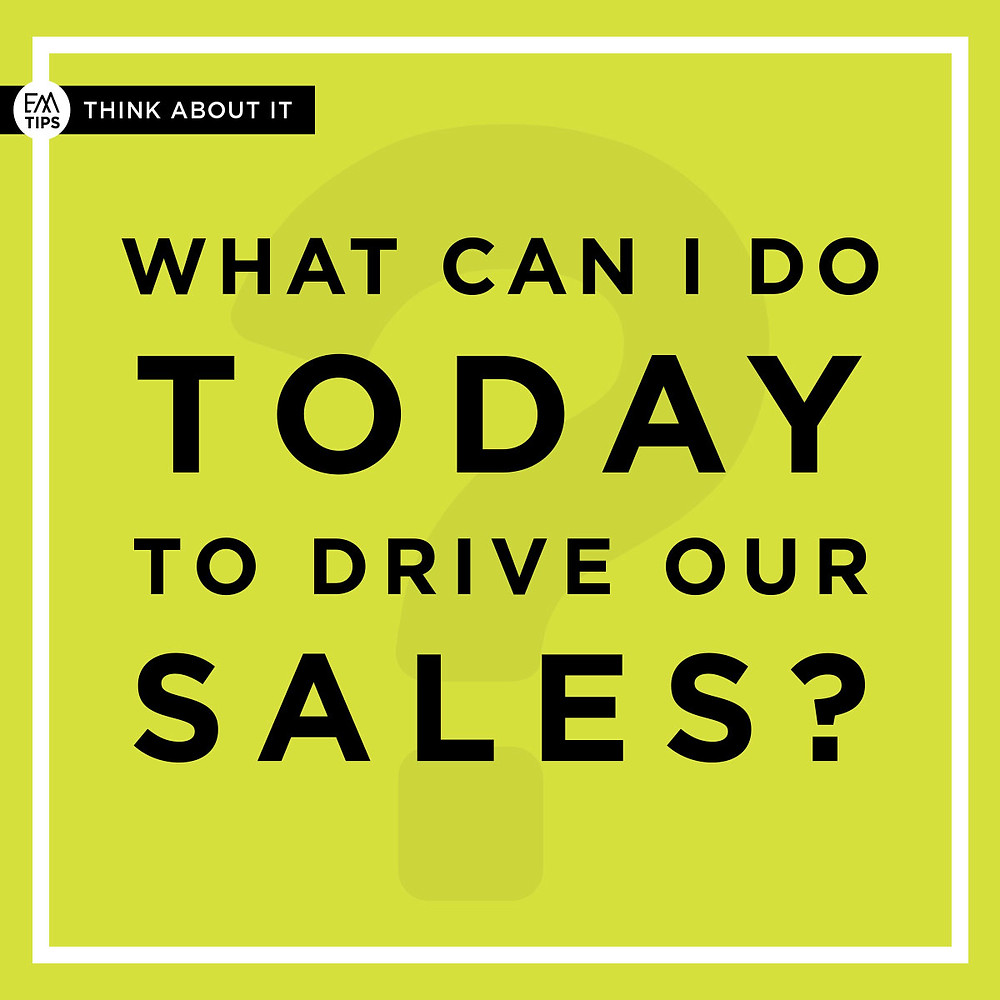 To drive your priorities you need to think focus on what will cause your sales to grow first in setting priorities.