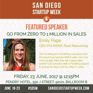 Emily Page talks about building sales from 0 to 1 million at SDSW in June