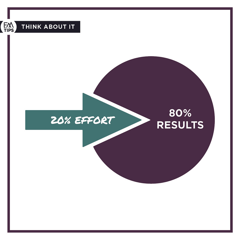 What in your life do you want to grow faster so you can feel satisfied with your life? Pareto's Principle helps us unlock what we should focus on to create a disproportionate benefit.