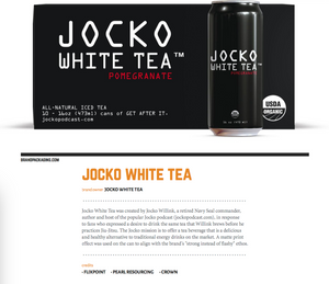 JOCKO WHITE TEA IS 2018'S BEST USE OF BRAND IN THE METAL CATEGORY