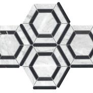 "Hexagon 6"" with Nero Marquina Polished"