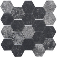 Blue Belge Hexagon