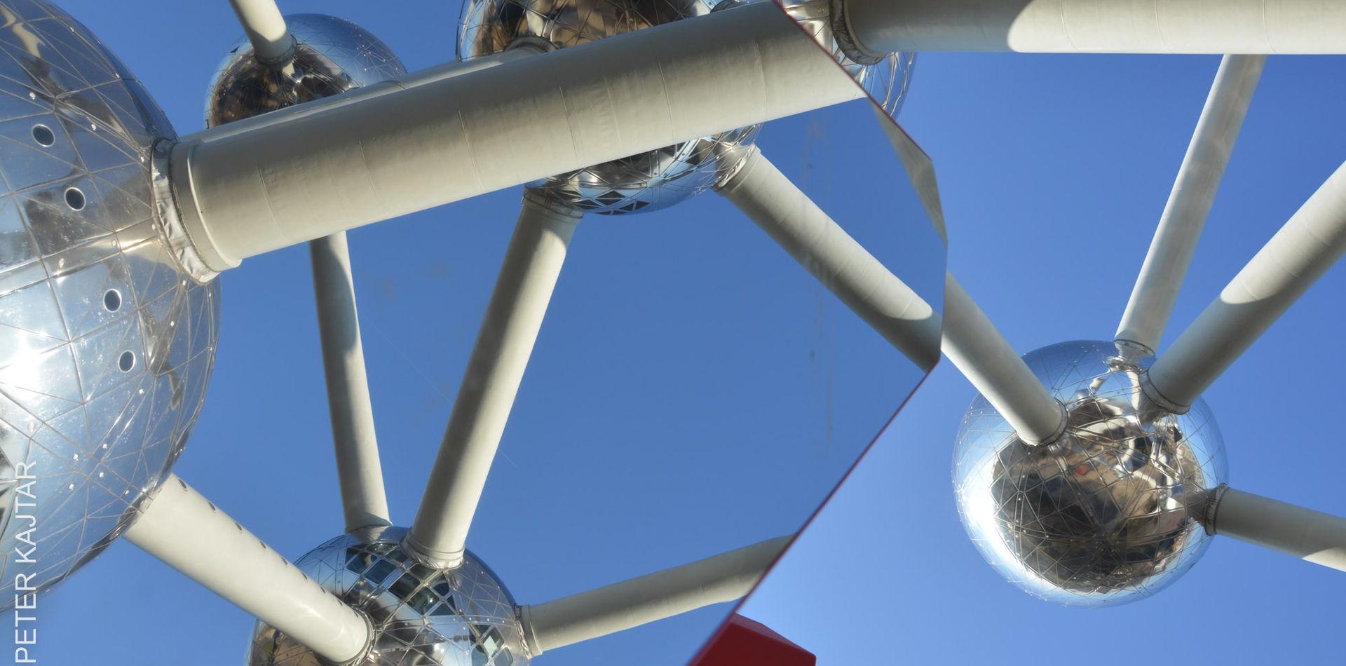 mirrored Atomium