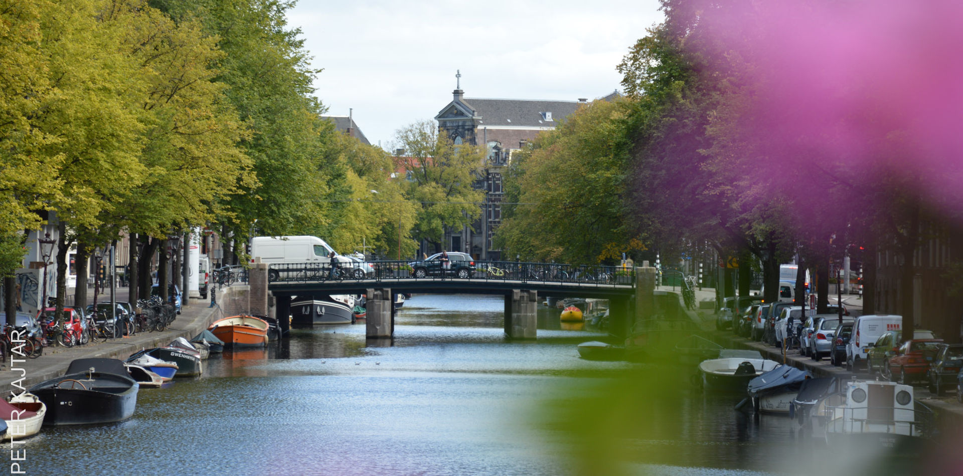 Canal with flowers