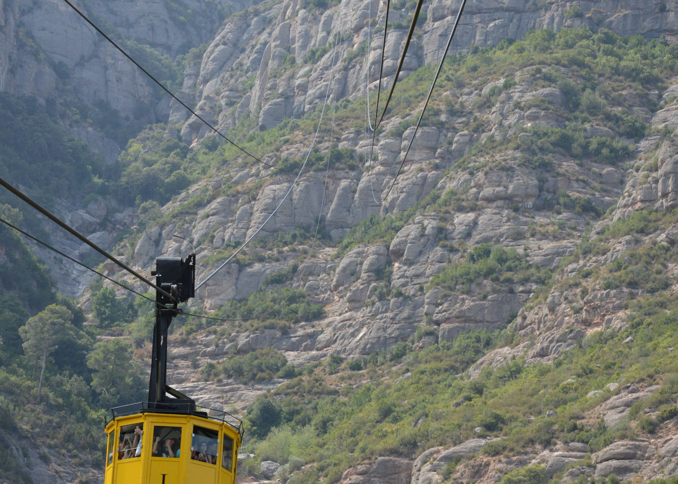 Cable car with monastery