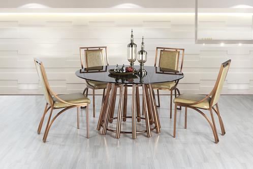 b24ad788756a LUXUSNÁ JEDÁLENSKÁ STOLIČKA SASKIA. Farba stoličky  Čaľúnené časti stoličky  je možné očaľúniť v rôznych farebných prevedeniach a materiálov.