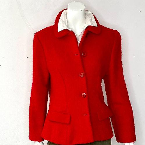 Chaqueta de lana roja