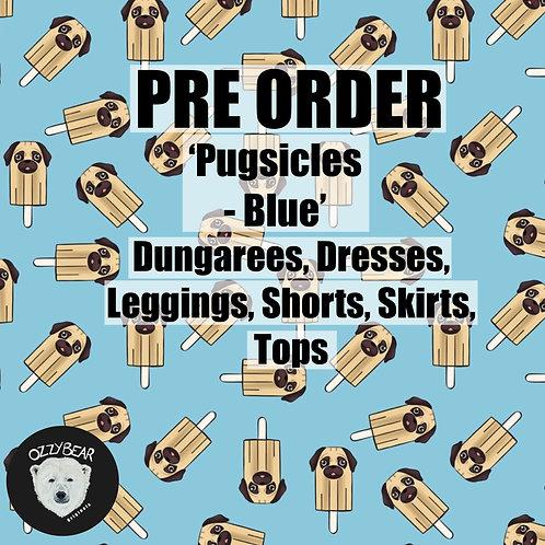 Pre Order Pugsicles - Blue