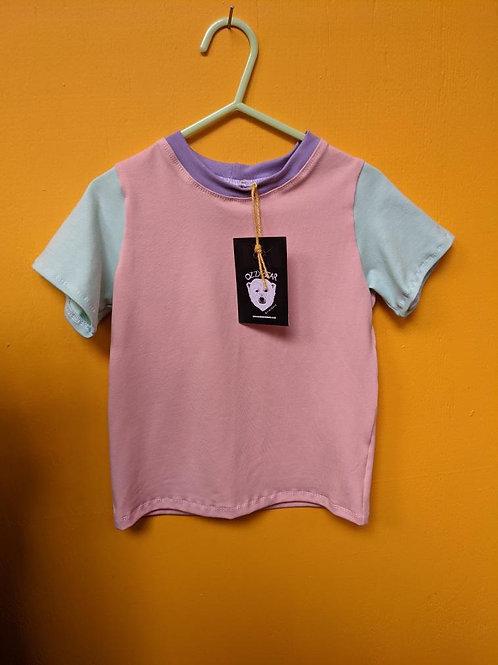 Multi colour retro t shirt