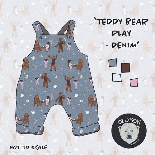 Teddy Bear Play Denim