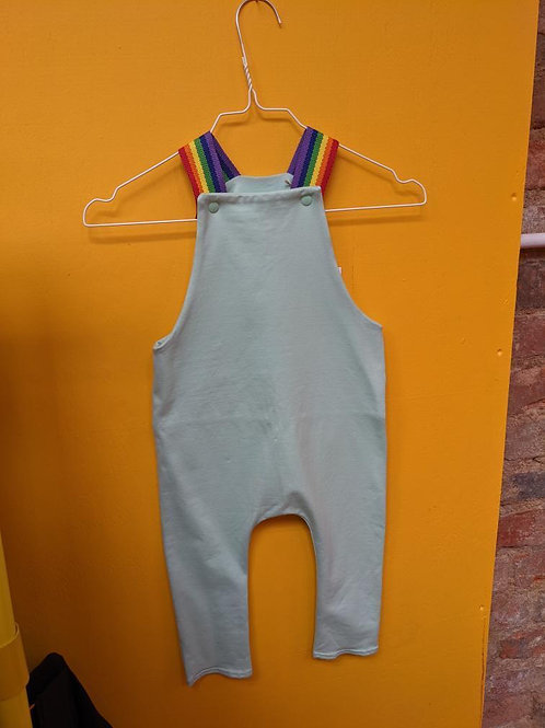 Not So Plain Mint and Classic Rainbow Dungarees