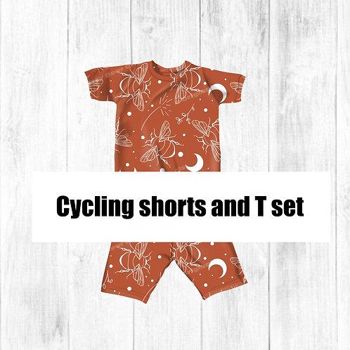 Cycling shorts and T set mock-up