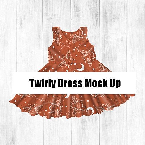 Twirly Dress Mockup