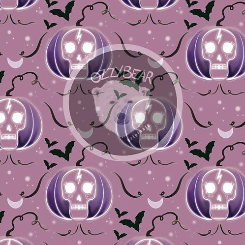 Pumpkin Skull Purple