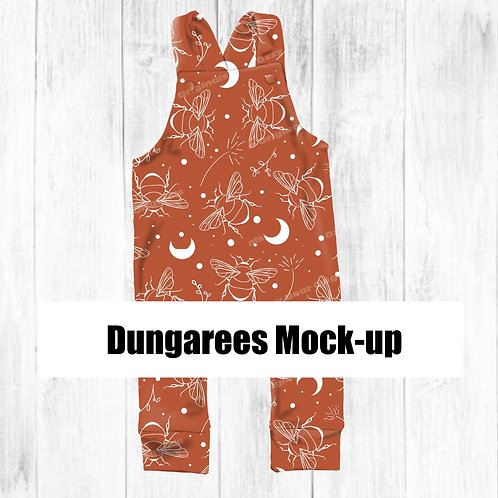 Dungarees Front and Back Mockup