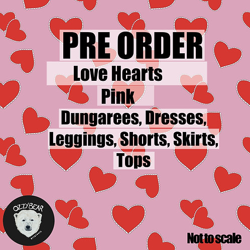 Preorder Love Hearts Pink