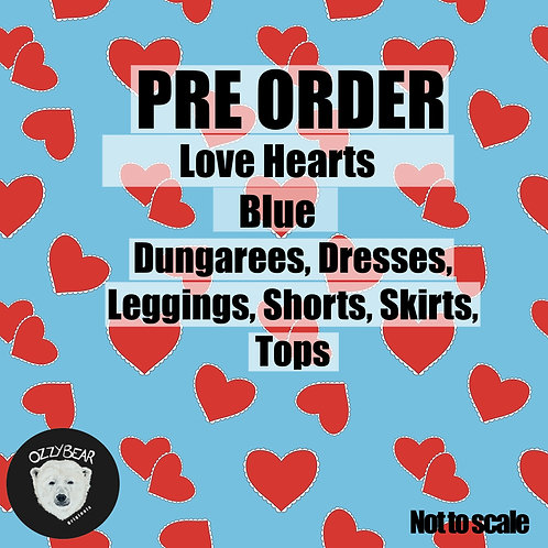Preorder Love Hearts Blue