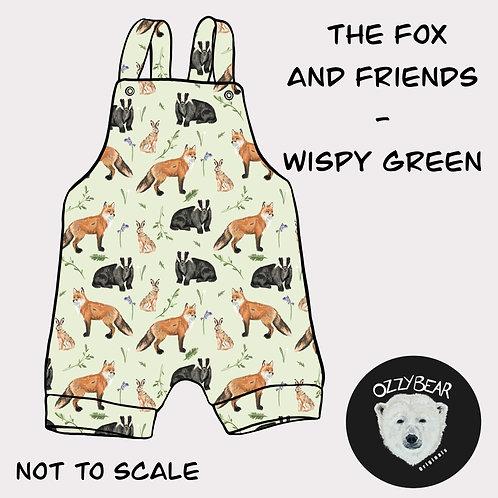 Fox and friends - wispy green
