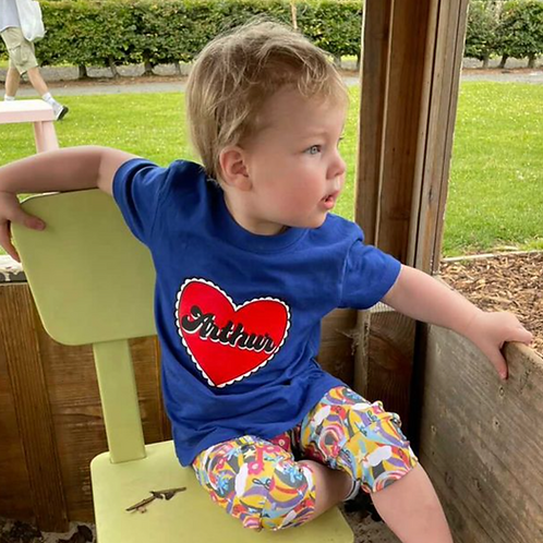 Personalised Love Heart T shirt