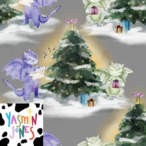 Christmas Dragons Grey